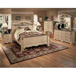 Queen Poster/Footboard Sanlbel Frosted,Chest,2NS B290 Image