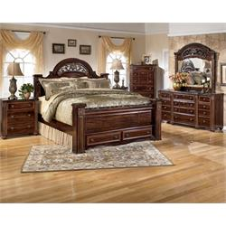 Gabriela King Bed Head/Footboard and Rails B347-KING-66-68-99 Image
