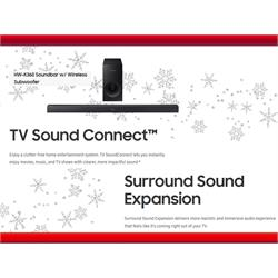 Bluetooth 2.1 ch Soundbar with wireless Subwoofer HW-K360/ZA Image