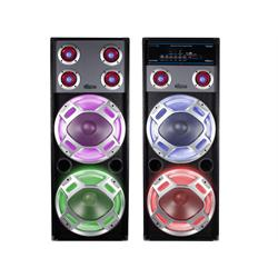 12'Pair of Bluetooth LED Speakers USB W/ PA Mixer BS12SYSTEM Image