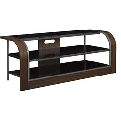 "65"" TV Stand with Wood & Black Glass OMNI TC65-6392-H371 Image"
