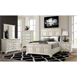 Calloway Queen Bedroom Set Dresser/Mirror and 2NS CY700-DR-MR-2NS-WHT Image
