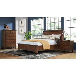 Chatham Gray Queen Bedroom H/B & Storage Footboard CH600QH-QF-QN Image